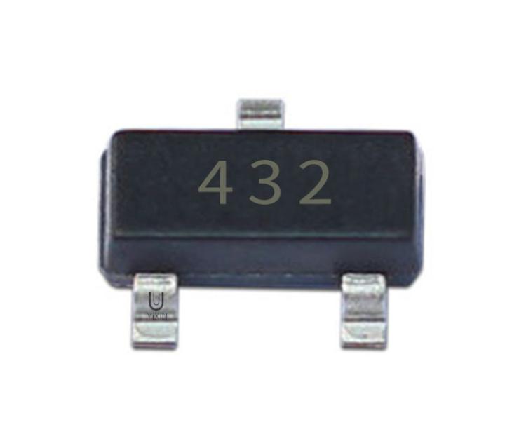 ﹝壹芯微(wei)﹞工廠直銷TL432 SOT-23 絲(si)印432 1.24V電壓基準ji)貼片(pian)三極(ji)管